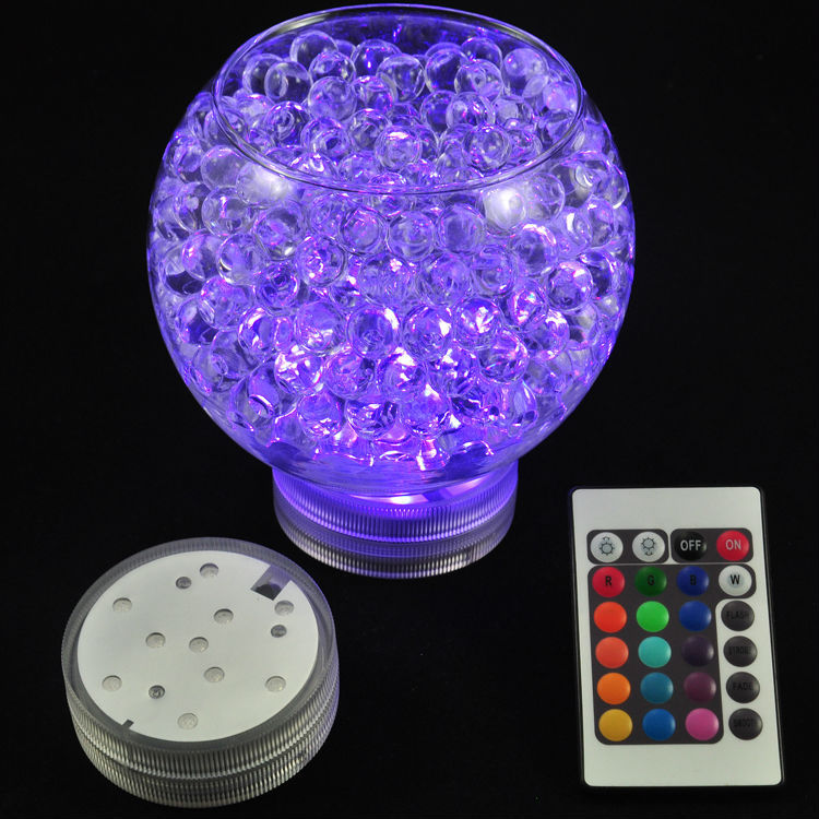 1pc Battery Operated Remote Control 16 Colors Submersible LED Light, LED Vases Base Light For Wedding Celebration