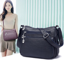 2019 Famous Brand Women Messenger Bag PU Leather Female Hand Bags Luxury Designer Ladies Shoulder Crossbody Bags Gift For Mother pockets of luxury women bags designer of famous brand shoulder bag messenger female vintage leather pu black gray coffee color