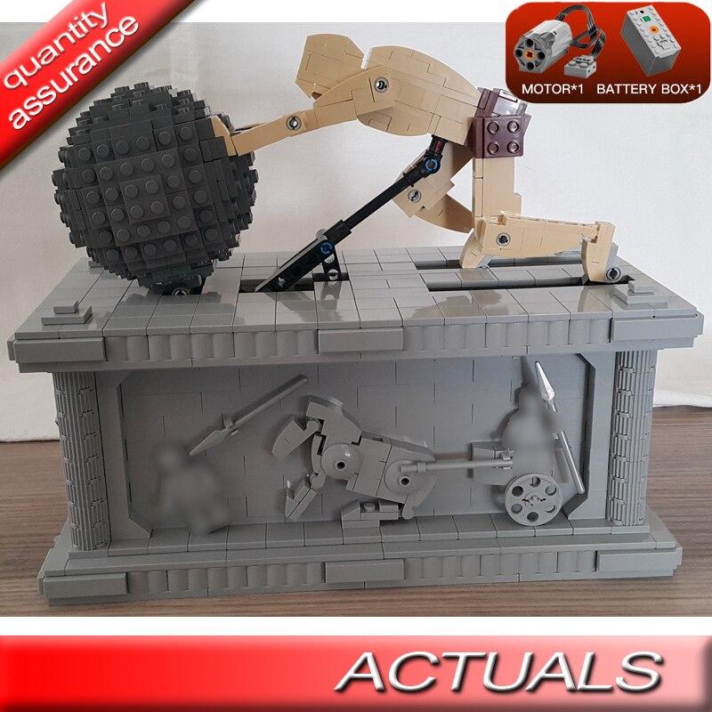 23017 Technic Movie Sisyphus Moc 1518 Bouwstenen Elektrische Motor Batterij Power Functies Bricks Compatibel Alle Merk Keuze Materialen