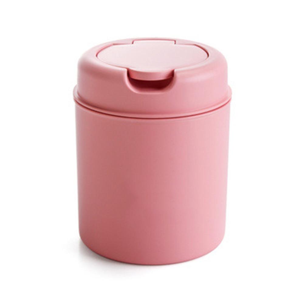 Plastic Mini Table Dustbin Sundries Barrel Storage Tank Desktop Car Garbage Can Vehicle Trash Can Home Office Snacks Waste Bins