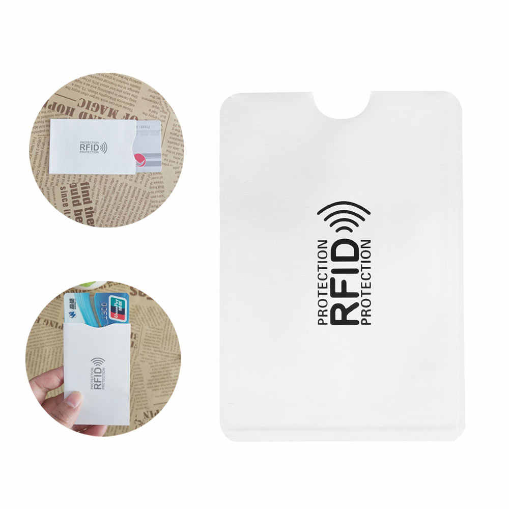 1/5 sztuk bezpieczeństwa Aluminium Anti karta blokująca rfid uchwyt anty złodziej ID Bank etui na karty kredytowe czytnik Protect skrzynki pokrywa biały 2