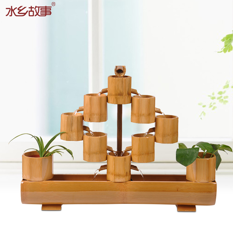 Water story living room opening gifts Lucky bamboo water fountain - Home Decor - Photo 1