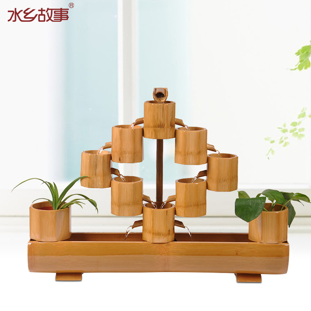 Water Story Living Room Opening Gifts Lucky Bamboo Water Fountain Water  Decorations Study Home Decoration