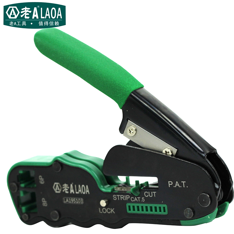 ФОТО LAOA 6P/8P Network Pliers Networking Tools Portable Multifunctional Cable Wire Stripper Crimping Pliers Terminal Tool Gift Box