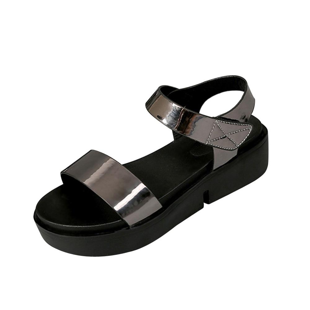 2018 sommer frau sandalen neue stil frau schuhe sajdals plattform mit hohe ferse und keil Gelegenheiten Komfortable Flache Sandalen