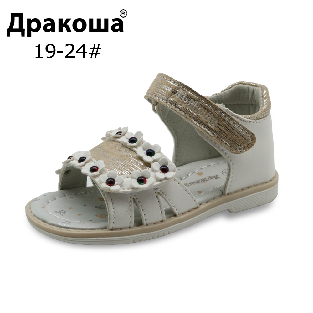 Apakowa Brand New Girls Sandals Summer Kids Orthopedic Shoes for Girls Pu Leather Children's Shoes with Arch Support Eur 19-24