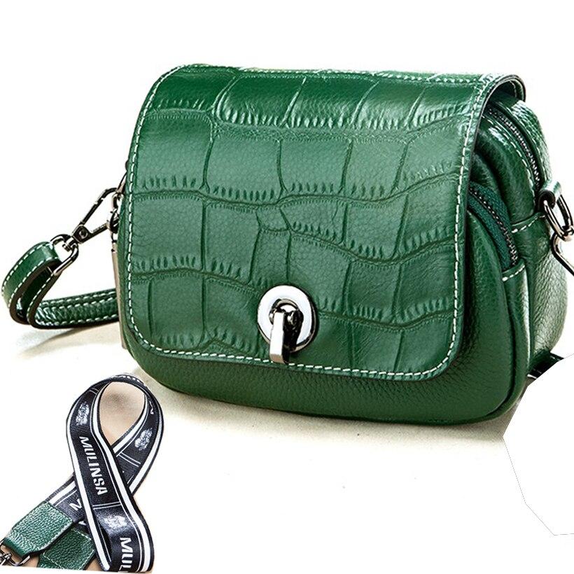 Petit sac à bandoulière en cuir véritable vert sacs à main de luxe et sacs à main femmes sacs Designer sac en cuir motif Crocodile sac d'été