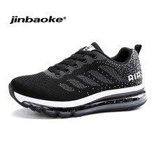 JINBAOK Air Push Løbesko Pustende Komfortabel Sneakers Mænd Jogging Sports Sneakers til Outdoor Walking Sko Størrelse39-44