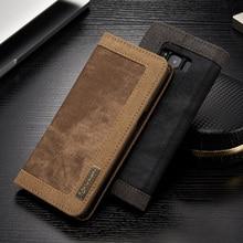 Оригинальный caseme бренд для Samsung S8/S8 Plus стильный прочный ковбой кожаный бумажник Стенд Крышка для Samsung Galaxy S8 плюс