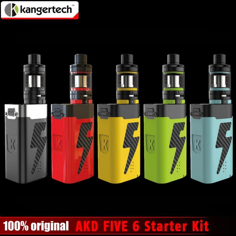 2017 New Original Kangertech Kanger AKD FIVE 6 Starter Kit 8ml Top Filling Subohm Tank Electronic Cigarette 220W Mod vape kit