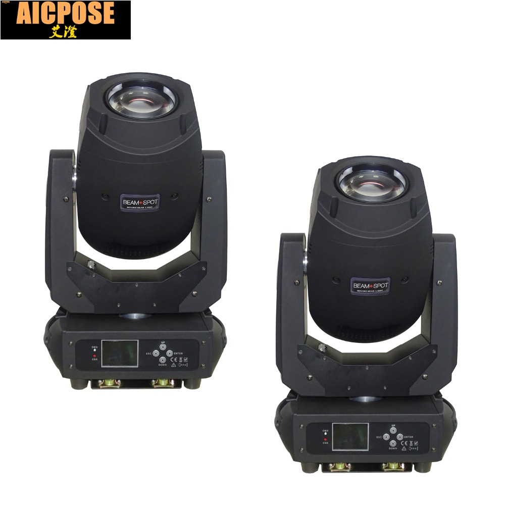 2units 3in1 Led Moving Head Light Beam 200W 6 Gobos 7 Colors Prism Electronic Linear Focus Sound Active Stage lighting