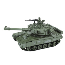 Remote Control Tank 1/20 Infrared M1A2 With Cannon & Emmagee Music Can Shoot Rechargeable Electric RC Toys For Boys