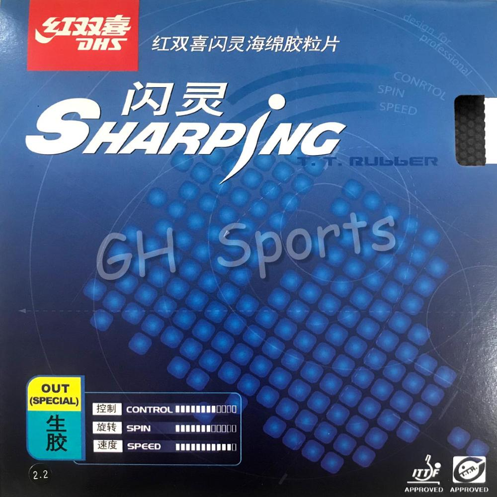 Original DHS Sharping Table Tennis Rubber Table Tennis Racket Indoor Sports Raw Rubber Fast Attack Racquet Sports