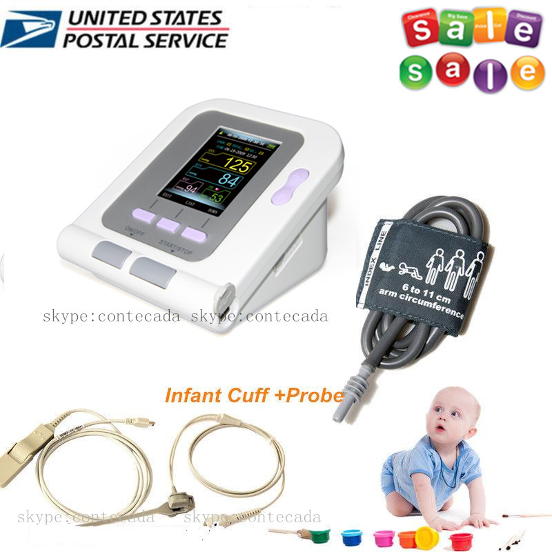 CONTEC Neonate/Infant Blood Pressure Monitor CONTEC08A,Infant SPO2 PR Probe,CD CE FDA usa fda contec digital blood pressure monitor adult spo2 color lcd contec08a