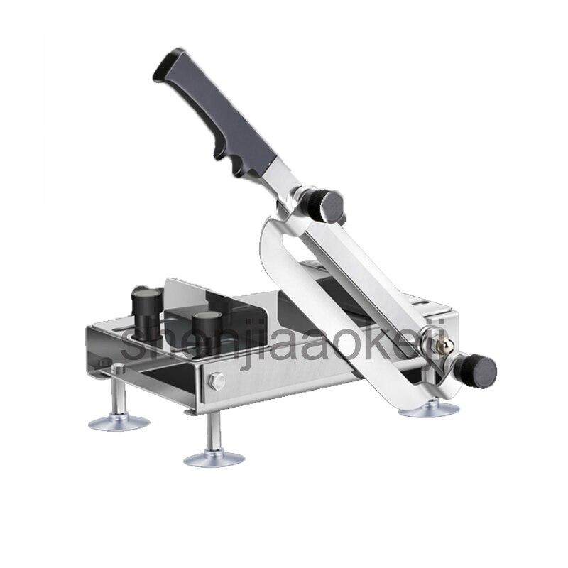 meat Slicer Ginseng Slicing Machine Antler Stainless steel Chinese herbal slicing machine Manual food Cutting Machine 1pc