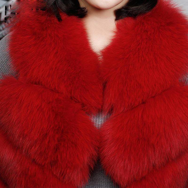Fourrure Renard Grey Grey Luxe Dark Nouvelle Gilet red Naturel De Pelt Chaud light Pleine blanc Femmes Hiver Véritable pUpBWInE