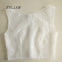 ZYLLGF Lace Bridal Jacket Boat Neck Button Back Bridal Bolero For A Wedding Dress Bolero Fille Mariage WBJ5