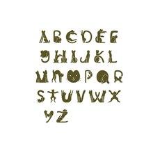 YaMinSanNiO Cat Font Alphabet Metal Cutting Dies for DIY Scrapbooking ABC Letter Die Cut Decorative Craft Paper Card Making