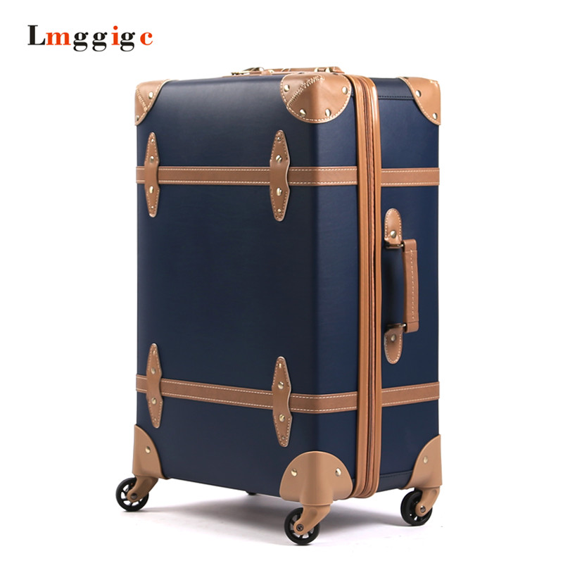 Vintage Luggage Travel ,High-end PP Suitcase,Nniversal wheel Spinner Carrier,High quality Carry-Ons case,Rolling Trolley Box 9pcs set traditional wooden interlocking burr puzzle iq test brain teaser puzzles classic kongming locks for adults and children
