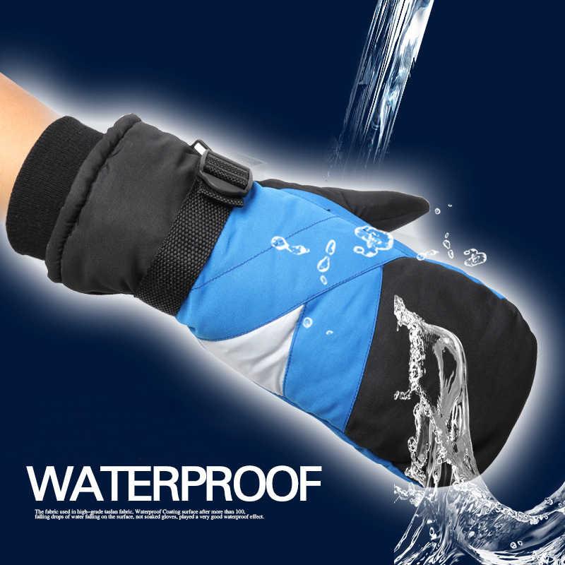 Guantes Térmicos impermeables para hombre, Snowboard, esquí, moto, deportes al aire libre, guantes de invierno para ciclismo, guantes de nieve