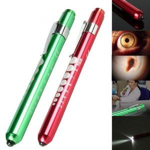 Image 2 - 1 قطعة نوع القلم جيب الألومنيوم الطبية Penlight الشعلة منظار الأذن مصباح ليد جيب منظار العين ل معاطف للأطباء والممرضات الإسعافات الأولية في حالات الطوارئ