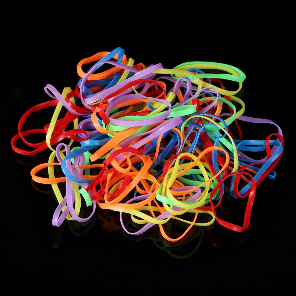600pcs/pack Women Girls Colorful Rubber Band Hairstyle
