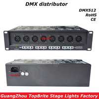2017 100% New Stage Light Controller DMX512 Splitter Light Signal Amplifier Splitter 8 Way DMX Distributor For Stage Equipments