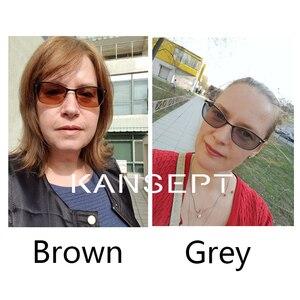 Image 3 - KANSEPT 1.56 endeksi fotokromik gri/kahverengi asferik reçete marka reçine lensler Anti UV yağı su yansıtıcı gözlük Lens