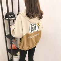 2018 Spring Autumn New Women Jacket Student Sweet Harajuku Loose Ulzzang Baseball Jackets Plus Size Women Clothing High Quality