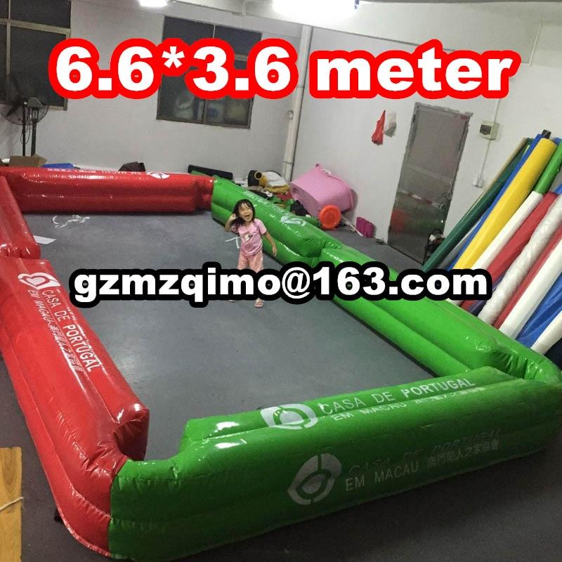 Libérez le bateau à porte 6.6*3.6 m géant gonflable table de billard, table de billard de billard gonflables, pas cher dart piscine pour vente