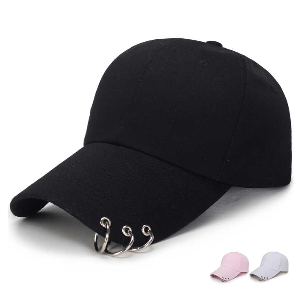 Chapeaux pour hommes femmes casquette de Baseball avec anneau Hip Hop casquettes coton adulte décontracté solide réglable unisexe chapeau été casquettes Marvel casquette