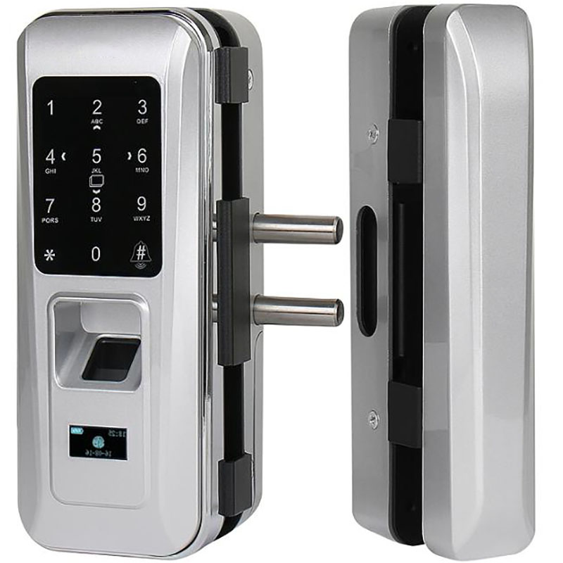 AiCinBel Glass Door Lock Office Keyless Electric Fingerprint Lock With Touch Keypad Smart Card Door Lock apartment electric door lock keyless passcode lock with mini size