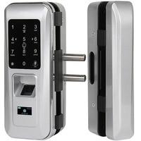 AiCinBel Glass Door Lock Office Keyless Electric Fingerprint Lock With Touch Keypad Smart Card Door Lock