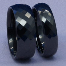 Faceta clásica 8mm negro de alta tecnología a prueba de arañazos de cerámica anillo de 1 unid
