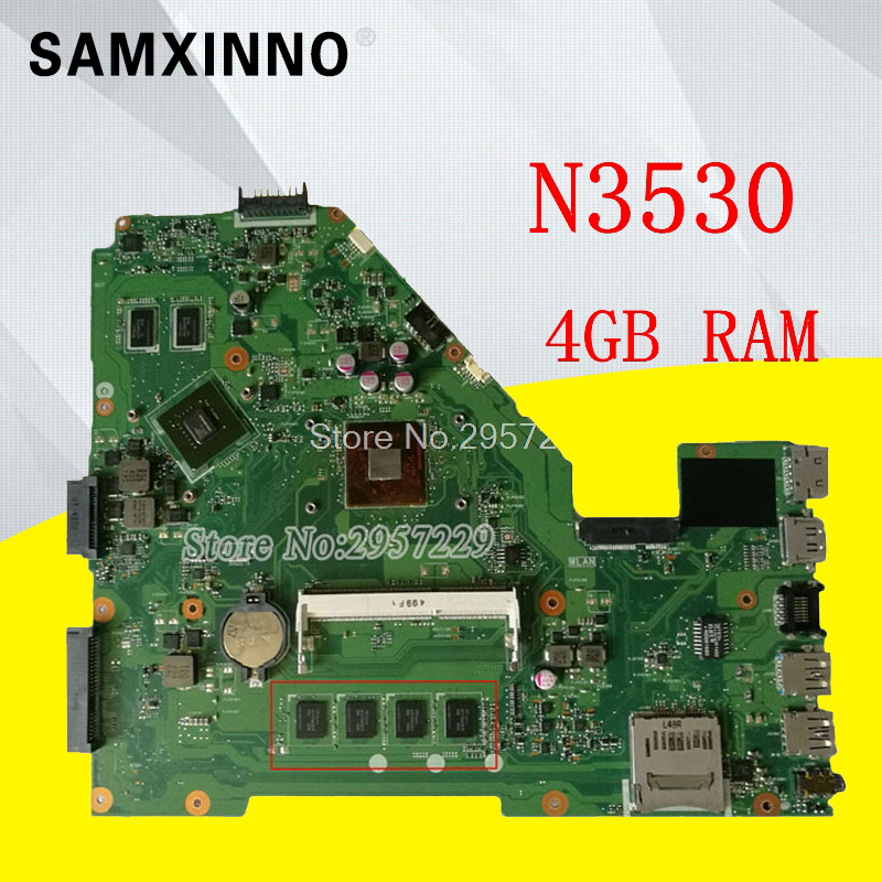 X550MD Motherboard GT920M-N3530 REV:2.0 For ASUS X550M X552M Y582M laptop Motherboard X550MD Mainboard X550MD Motherboard original for asus 69nb06p0 m82300 69n0rbm1da00 x550md motherboard rev 2 0 n2940u 4gb 100% fully tested