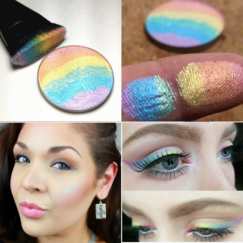 brand makeup brighten glow makeup kit powder waterproof shimmer face contour makeup rainbow. Black Bedroom Furniture Sets. Home Design Ideas