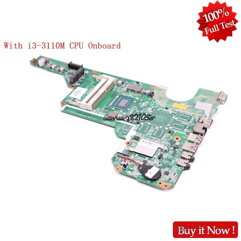 все цены на NOKOTION For HP Pavilion G6 G6-2000 laptop motherboard i3-3110M CPU 710873-001 710873-501 DDR3 MAIN Board full tested онлайн