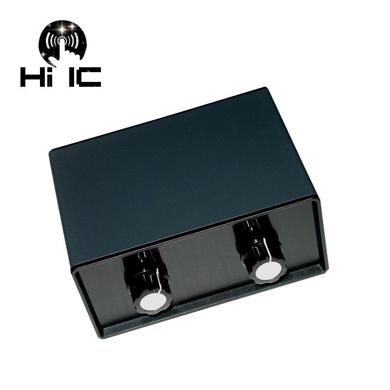 4 ingang 1 Uitgang Passieve Audio Signaal Switcher Schakelaar Selector Box Sound HiFi Audio Signaal Splitter Met Volumeregeling-in Versterker van Consumentenelektronica op  Groep 1