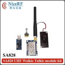 2SETS 1W RF Audio Module SA828-U 400MHz-480MHz 1W 30dBm Industrial Grade Walkie Talkie Module