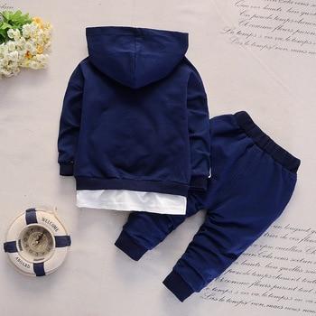 Spring Autumn Baby Casual Tracksuit Children Boys Girls Zipper Hoodies Pants 2Pcs/Sets Fashion Kids Cotton Clothing Sport Sets
