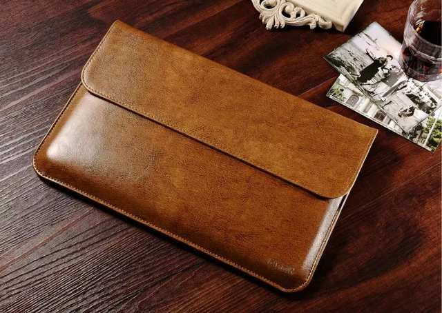 c70df9825f7 Luxury Genuine Leather Sleeve For Apple Macbook Air 13 Laptop Sleeve Pouch  Cases For Mac book