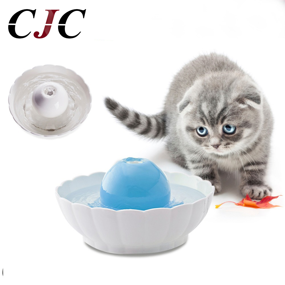 Newest Automatic Electric 2.1L Pet Water Fountain Dog Cat Drinking Ceramic Bowl Ceramic Ball Fountain plastic auto feeding bowl for pet dog cat black white 946 3ml