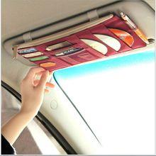 Car DVD/CD Holder Storage Case Organizer Sun Visor Sleeve Wallet Clip