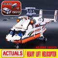Лепин 20002 1060 шт. техника серии механические группа высокая нагрузка вертолет строительные монтажные блоки игрушки Совместимость С 42052