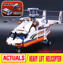 Lepin 20002 1060pcs technic series mechanical group high load helicopter building assembling blocks toys Compatible With 42052