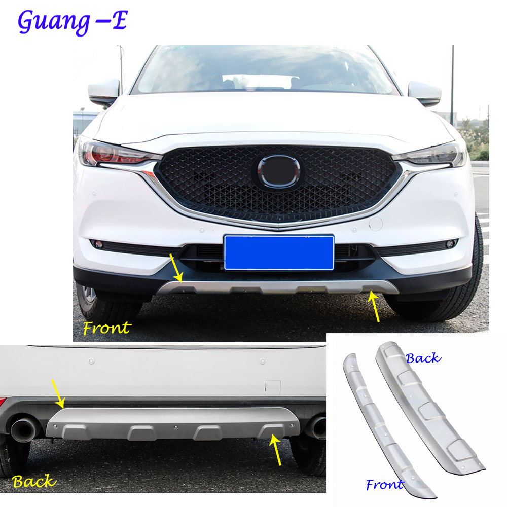 Car protection Bumper ABS Chrome trim front head/rear hoods bottom moulding hoods part For Mazda CX-5 CX5 2nd Gen 2017 2018