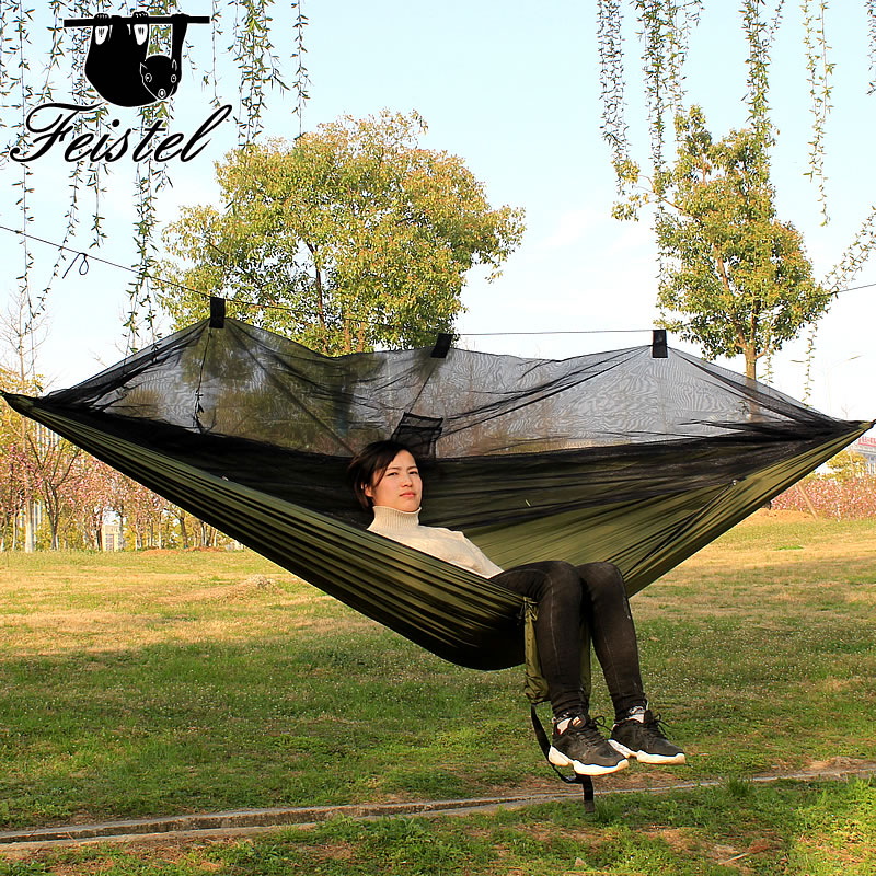 Hammock with mosquito net net camping outdoors furniture garden