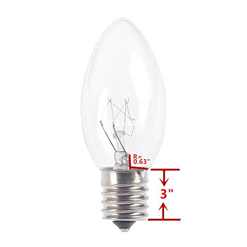 25 pack c9 transparent christmas replacement bulbs for christmas outdoor patiao string lights clear e17c9 intermediate base in holiday lighting from