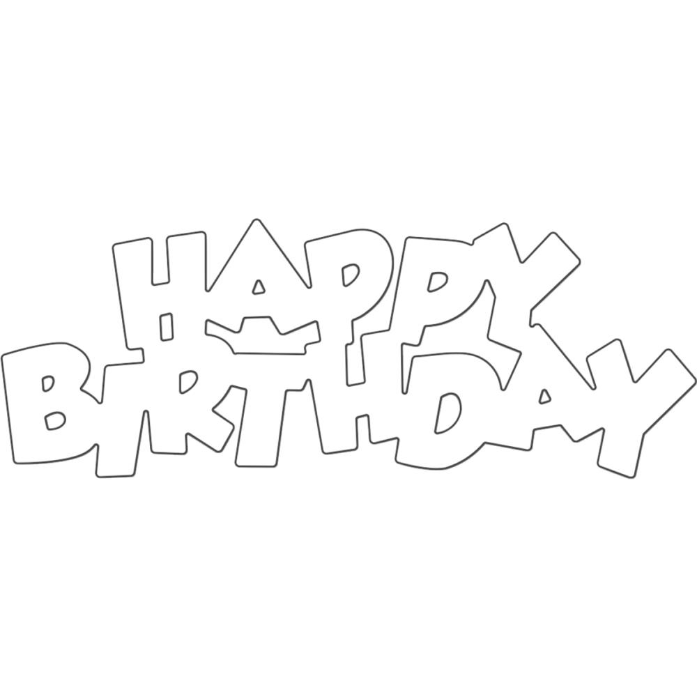 Versatile image throughout happy birthday stencil printable