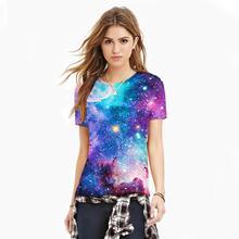2017 новое прибытие с коротким рукавом о-образным вырезом пространство galaxy t-shirt мужчины/женщины harajuku хип-хоп футболки сумерки футболки xxl летние топы